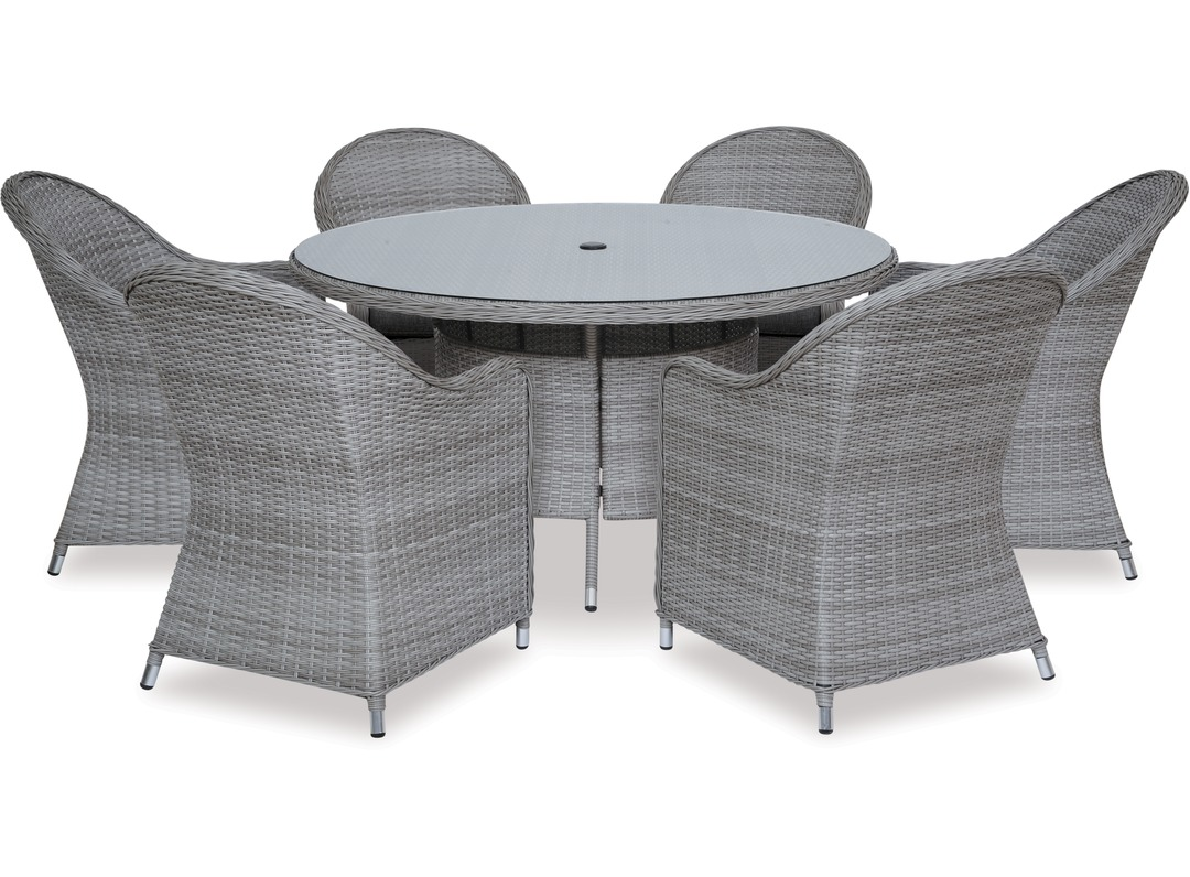 Baja 1400 Round Outdoor Table Cabo Outdoor Chairs X 6