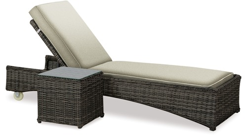 Mesa Outdoor Sunlounger & Side Table