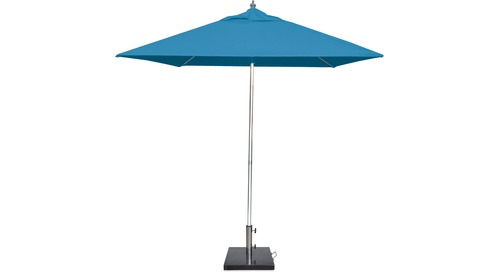 Inlet 2.5m Square Polished Aluminium Outdoor Umbrella