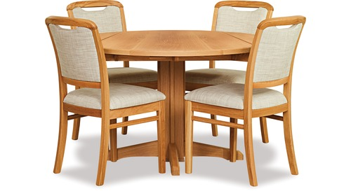 Avondale Double Drop-Leaf Dining Table & Melody Chairs