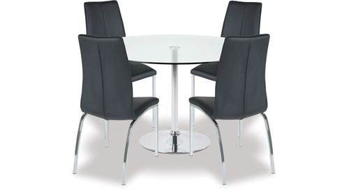 Becky Dining Table & Asama Chairs x 4