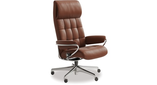 Stressless® London Leather Home Office Chair - High Back