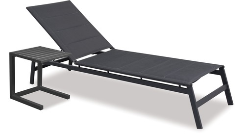 Boston Outdoor Sunlounger & Side Table