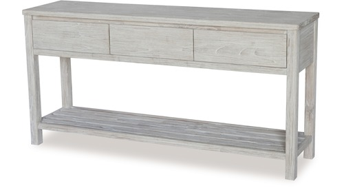 Ocean Grove Hall Table, White Washed Bedroom Furniture Nz