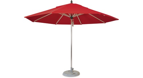 Inlet 3.5m Round Polished Aluminium Outdoor Umbrella