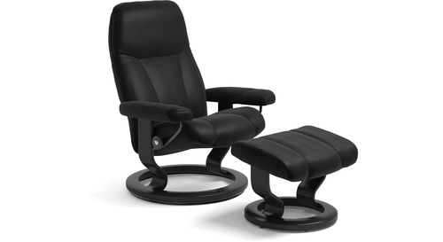 Stressless® Consul Leather Recliner - Classic Base